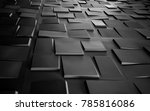 Black cube abstract texture...