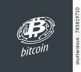 icon vector bitcoin   Shutterstock .eps vector #785819710