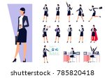 set of business characters... | Shutterstock .eps vector #785820418