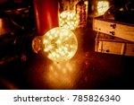 Light bulb in low light background