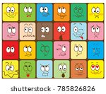flyers with funny faces ... | Shutterstock .eps vector #785826826