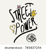 slogan type patch for print   Shutterstock .eps vector #785837254