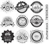set of bicycle repair shop...   Shutterstock . vector #785838283