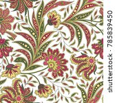 floral pattern. flourish tiled... | Shutterstock .eps vector #785839450
