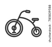 tricycle icon  baby toy vector   Shutterstock .eps vector #785839588