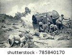 world war 1. somme offensive.... | Shutterstock . vector #785840170