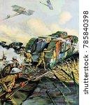 World War 1 Tanks. Illustratio...