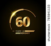 60 years anniversary... | Shutterstock .eps vector #785841133