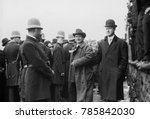 Small photo of William Jennings Bryan escorted by 28 year old Franklin Delano Roosevelt, NYC, Oct. 27, 1908. Bryan was the Democratic Presidential Nominee for third and final time, and lost the election to William H
