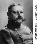 Small photo of General Paul von Hindenburg, 1915, German military and defacto political leader during World War 1