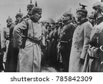 kaiser wilhelm ii inspecting...   Shutterstock . vector #785842309