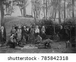 Small photo of Russians camped out during the famines of 1918-1921. WW1, the Russian Revolution, the civil war, and drought contributed to crop and food distribution failure