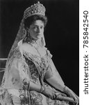 Small photo of Czarina Alexandra Feodorovna, Alix of Hesse, the Empress Consort of Russia, 1908. Photograph by Frederick Boasson and Fritz Eggler