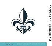 fleur de lis heraldic icon...   Shutterstock .eps vector #785842936