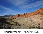 red rock canyon   erosion on... | Shutterstock . vector #785844868