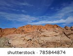 red rock canyon   erosion on... | Shutterstock . vector #785844874