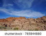 red rock canyon   erosion on... | Shutterstock . vector #785844880