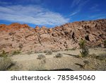 red rock canyon   erosion on... | Shutterstock . vector #785845060