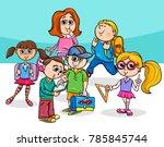 cartoon vector illustration of... | Shutterstock .eps vector #785845744
