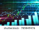 stock market or forex trading...   Shutterstock . vector #785849476