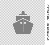 ship vector icon eps 10.... | Shutterstock .eps vector #785850160