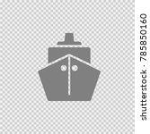 ship vector icon eps 10.... | Shutterstock .eps vector #785850160