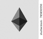 ethereum virtual currency logo... | Shutterstock .eps vector #785850550