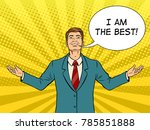 happy businessman with smile... | Shutterstock .eps vector #785851888