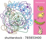 find hidden objects and shapes. ... | Shutterstock . vector #785853400
