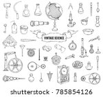 vintage science objects set in... | Shutterstock .eps vector #785854126