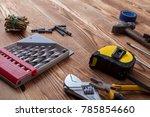 set of different building... | Shutterstock . vector #785854660