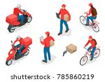 isometric delivery service or... | Shutterstock .eps vector #785860219