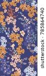 cherry blossom vector seamless... | Shutterstock .eps vector #785864740
