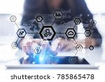 iot  automation  industry 4.0.... | Shutterstock . vector #785865478