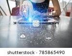 microchip  cpu  processor ... | Shutterstock . vector #785865490
