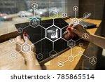 industry 4.0 concept  smart... | Shutterstock . vector #785865514