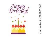 vector flat birthday... | Shutterstock .eps vector #785869063