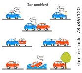 funny car characters have road... | Shutterstock .eps vector #785869120