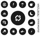 set of 13 editable weather...