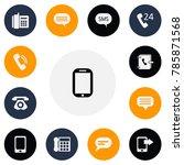 set of 13 editable gadget icons....