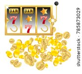 casino. golden slot machine... | Shutterstock .eps vector #785873029