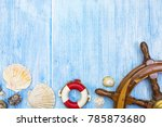 seaside vacation background of... | Shutterstock . vector #785873680