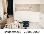 renovation concept. tools... | Shutterstock . vector #785882050