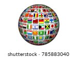 world community 3d rendering | Shutterstock . vector #785883040