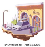 vector low poly station wagon... | Shutterstock .eps vector #785883208