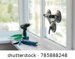 window installer tools. vacuum... | Shutterstock . vector #785888248