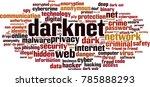 darknet word cloud concept.... | Shutterstock .eps vector #785888293