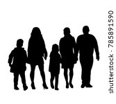 vector  isolated silhouette... | Shutterstock .eps vector #785891590