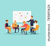 teamwork  office  workplace ... | Shutterstock .eps vector #785893624