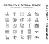 electricity engineering vector... | Shutterstock .eps vector #785894446
